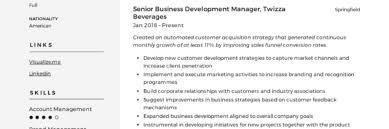 Modern Resume Builder For Sales Business Development Manager Resume Samples Writing Guide