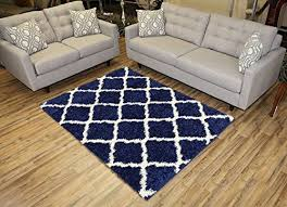 navy blue and white area rugs. unique rugs navy blue trellis shag area rug rugs shaggy collection navy blue 5u0027x7u0027 inside and white