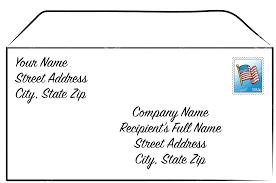 10 Address Letter Envelope Acover Letters