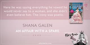 book review an affair with a spare by shana galen