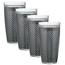 fishnet 22 oz black insulated drinkware set of 4