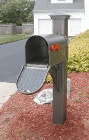 open mailbox. Premier Mailbox - Post Bronze With Decorative Door Open