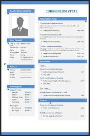 Cv Curriculum Vitae Gorgeous Contoh CV Curriculum Vitae Yang Baik Menarik Dan Benar File Word