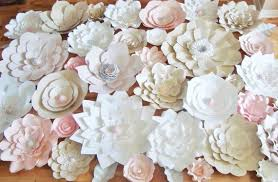 Paper Flower Photo Booth Backdrop Paper Flowers Wedding Flower Wall And Photo Booth Backdrop Set Of 35