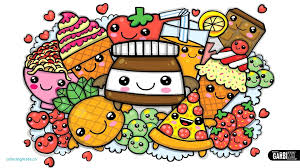 Awesome Cute Kawaii Food Coloring Pages Home With Printable Rallytv