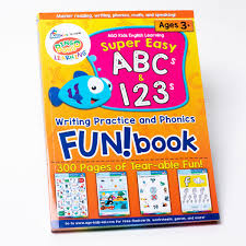 Worksheet for (very) young learners who have just started reading. Super Easy Abcs And 123s Writing Practice And Phonics Fun Book Bingobongo Bingobongo