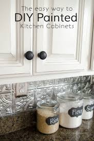 Painting Cherry Kitchen Cabinets White How To Paint With Decor
