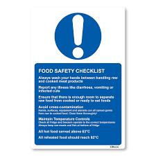 food safety checklist sticker sign for kitchen xcm health food safety checklist sticker sign for kitchen 13x20cm health safety amazon co uk diy tools