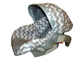 chevron seat covers baby car seat cover infant gray chevron with blue chevron car seat covers