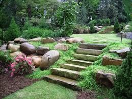 backyard landscaping designs. Great Backyard Landscaping Ideas : Designs Stone Steps Boulders O