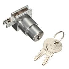 plunger push lock with 2 key for