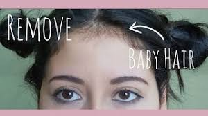 how i remove my baby hair my hair routine