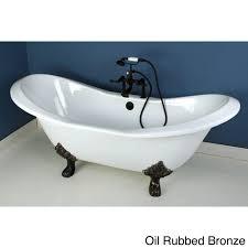 enchanting bathroom design with bear claw tub