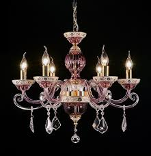 cranberry glass chandelier with fancy cased arms sold