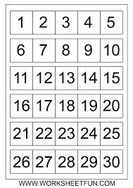 Printable Numbers 1-30 | Numbers 1-30 | Pinterest | 30th, Number ...