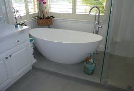 how to install a freestanding bathtub using the drop in drain tub installation deck mount faucet