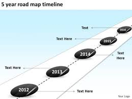 5 year timeline template 5 year road map timeline powerpoint templates ppt slides graphics