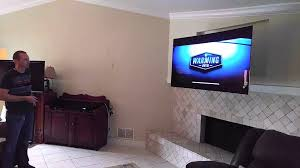 lg tv 65 inch. 65 inch led lg tv with motorized wall mount paradise systems tampa florida - youtube lg tv