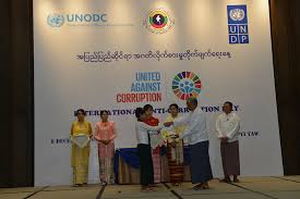 myanmar marks the international anti corruption day undp in myanmar students were awarded prizes on their winning entries for an anti corruption essay competition