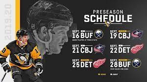 penguins announce 2019 pre season schedule
