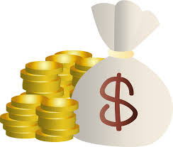 Money Bag of Dollars and Stacks of Gold Coins clipart. Free download  transparent .PNG | Creazilla