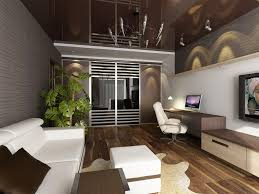 Apartment:Captivating Small Studio Apartment Designs With White Computer  Desk And Comfy Black Chair Ideas