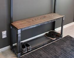 Industrial Coat Rack Bench Industrial Coat Rack Etsy 19