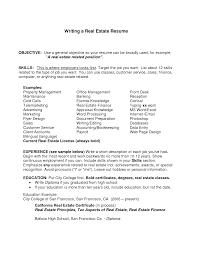 Realtor Resume Objective Real Estate Administrator Sample For