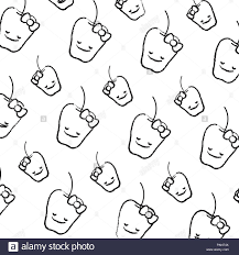 Kawaii Background Black and White Stock ...