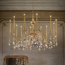 slim candle gold plated chandelier