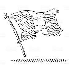 Dessin Drapeau De La France Stock Vecteur Libres De Droits