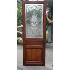 splendorous antique glass door antique victorian etched glass exterior door