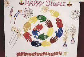Hand Print Diwali Chart Design Chart Design Happy Diwali