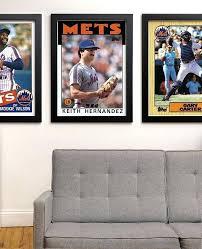 Size Of A Baseball Card Sports Card Wall Display Size Baseball Print Kids Room