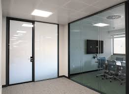 self adhesive switchable smart office privacy doors switched to off