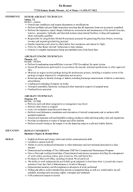 Aircraft Technician Resume Sample Aircraft Technician Resume Samples Velvet Jobs 22