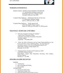 Resume Templates Samples Best Stupendous Resume Sample Format For Job Application Templates Letter