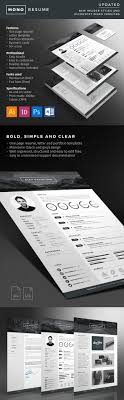 25 creative resume templates to land a new job in style mono resume minimal design