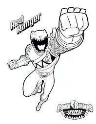 Power Ranger Printable Coloring Pages Index Rangers Thunder Dino