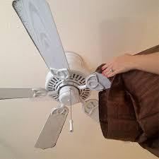 home dzine clean ceiling fan slip a pillowcase over each individual fan blade