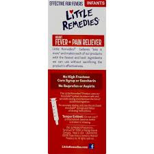 Little Remedies Infant Fever Pain Reliever Natural Berry