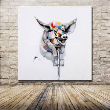 no framed handmade large modern colorful lovely animal acrobatics pig oil painting on canvas wall art children s home decoration in painting calligraphy  on pig canvas wall art with no framed handmade large modern colorful lovely animal acrobatics