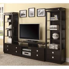creative design tv stand with shelves coaster furniture dark brown tv console with floating
