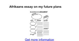 afrikaans essay on my future plans google docs