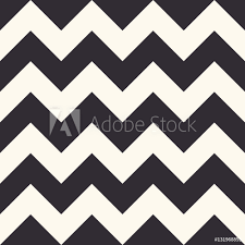 Poster Foto Fashion Zigzag Pattern Seamless Vector Background