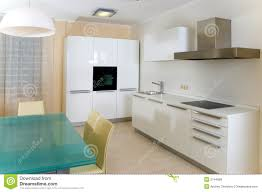 Modern Kitchen Furniture Modern Kitchen With Furniture Royalty Free Stock Images Image