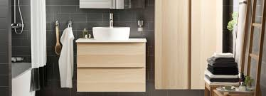 bathroom furniture ikea.  Ikea Image Of A Charcoal Grey Tiled Bathroom Featuring Light Wooden White And  Silver Accents IKEA Bathroom Planner Throughout Furniture Ikea O