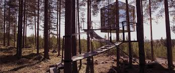 invisible tree house hotel. The Mirrorcube Invisible Tree House Hotel E