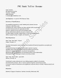 100 Sample Resume For Bank Teller With No Exper Sevte