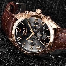 LIGE 2020 New Watch <b>Men Fashion Sport</b> Quartz Clock <b>Mens</b> ...